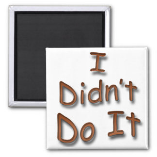 I Didn't Do It 2 Inch Square Magnet