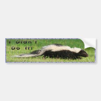 I Didn't Do It! Bumper Sticker