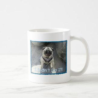 I Didn't Do It Classic White Coffee Mug