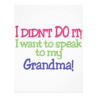 I Didnt Do It! Grandma! Letterhead