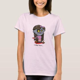 """I didn't do it..."" Zombie Girl T-Shirt"