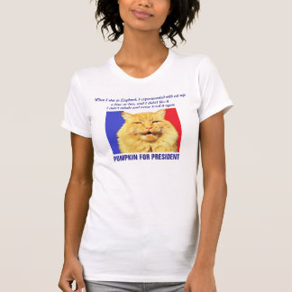 I didn't inhale - Pumpkin for President T-Shirt