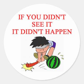 i didn't so it! classic round sticker