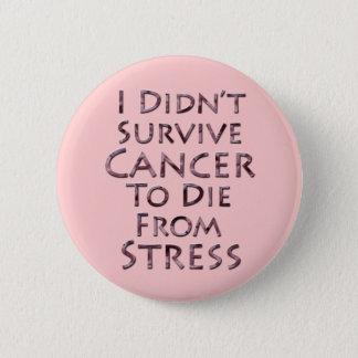 I Didn't Survive Cancer To Die Pink Stress Button