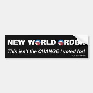 I didn't vote for the NWO! Car Bumper Sticker