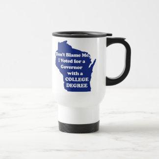 I didn't Vote for Walker Blue Mug