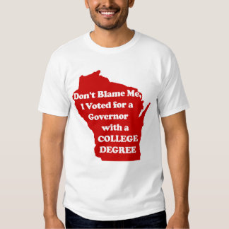 I didn't Vote for Walker Red T-Shirt