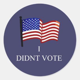 I Didnt Vote Sticker