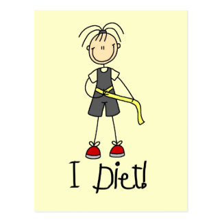 I Diet Tshirts and Gifts Post Card