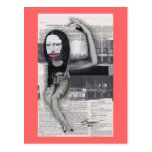 I Dieted During My Pregnancy Mona Lisa Collage Postcards