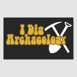 I Dig Archaeology Rectangular Sticker