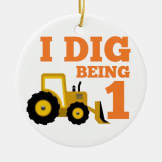 I Dig Being 1 Ceramic Ornament