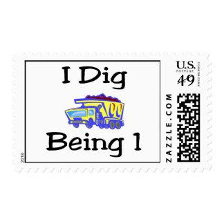 I Dig Being 1 Postage Stamp