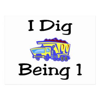 I Dig Being 1 Postcard