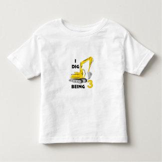 I dig being 3 toddler t-shirt