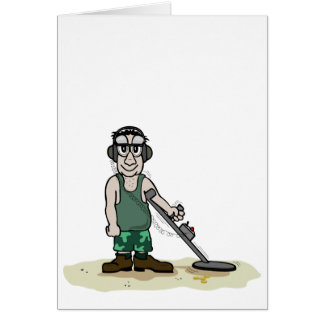 I Dig Booty Metal Detecting Guy Card