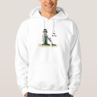I Dig Booty Metal Detecting Guy Hooded Pullover
