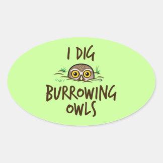 I Dig Burrowing Owls Oval Sticker