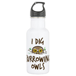 I Dig Burrowing Owls Water Bottle