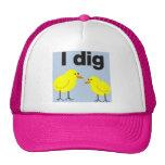 I DIG CHICKS baseball cap.... Trucker Hats