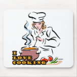I Dig Cooking Chef Mouse Pads