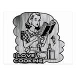 I Dig Cooking Garnish Post Card