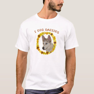 I Dig Daisies Ausky Dog T-Shirt