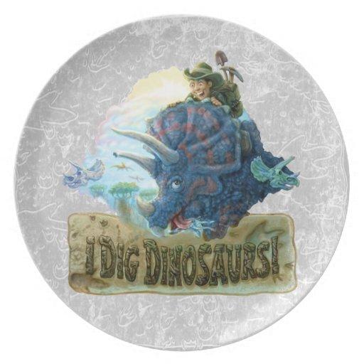 I Dig Dinosaurs Dinner Plate