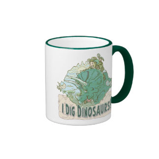 I Dig Dinosaurs for Dinosaur Hunters of all Ages Ringer Mug