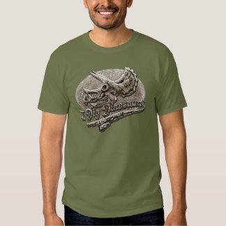 I Dig Dinosaurs Triceratops Skull Tee Shirt