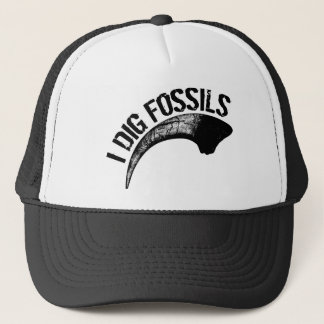 I DIG FOSSILS Claw Trucker Hat