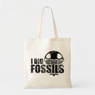 I DIG FOSSILS Trilobite Tote Bag