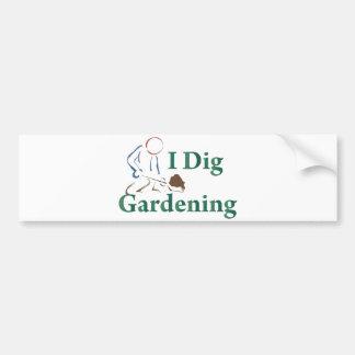 I Dig Gardening Bumper Sticker