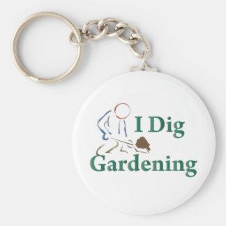 I Dig Gardening Keychain