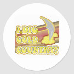 I Dig Gold Country Classic Round Sticker