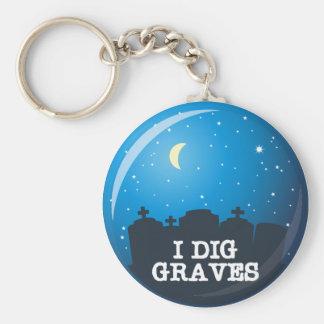 I Dig Graves Basic Round Button Keychain
