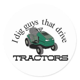 I Dig Guys Classic Round Sticker