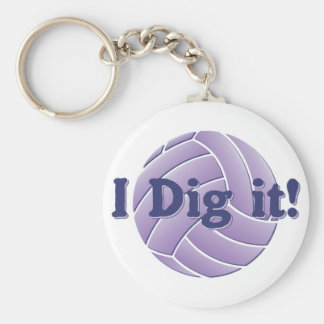 I dig it - Volleyball Keychain