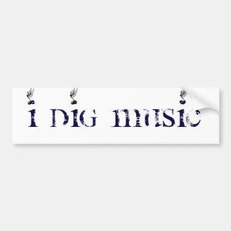 I DIg Music Winged Bumper Sticker