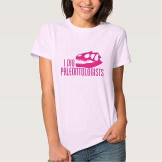 I DIG PALEONTOLOGISTS TEE SHIRTS