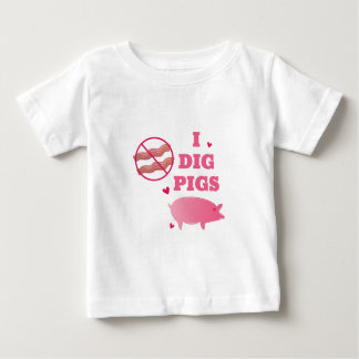 I Dig Pigs Baby T-Shirt
