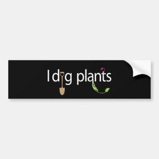 I Dig Plants Bumper Sticker