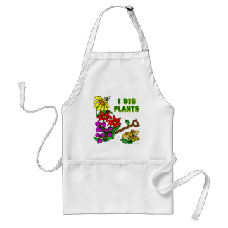I Dig Plants Flower Gardener Saying Apron