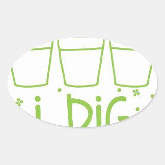 i dig potplants oval sticker