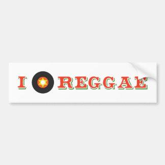 I Dig Reggae Bumper Sticker