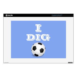 I Dig Soccer Laptop Skin