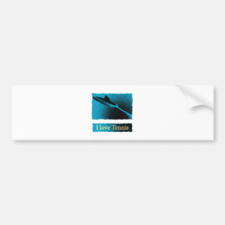 I Dig Tennis Deuce Bumper Sticker