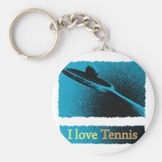I Dig Tennis Deuce Basic Round Button Keychain