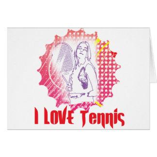 I Dig Tennis Love Card