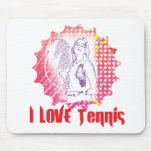 I Dig Tennis Love Mouse Pads